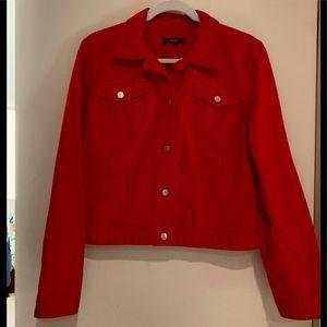 Chaps Red Denim Jacket